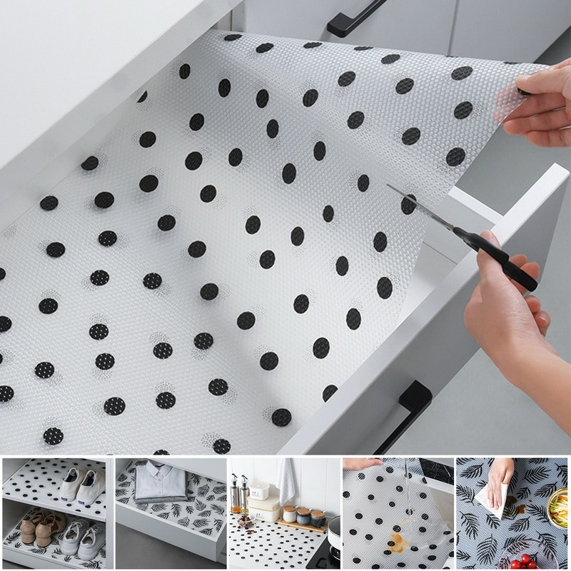 45X122 cm drawer mat oil-proof moisture kitchen table shelf liner mats cupboards pad paper non slip waterproof closet placemat