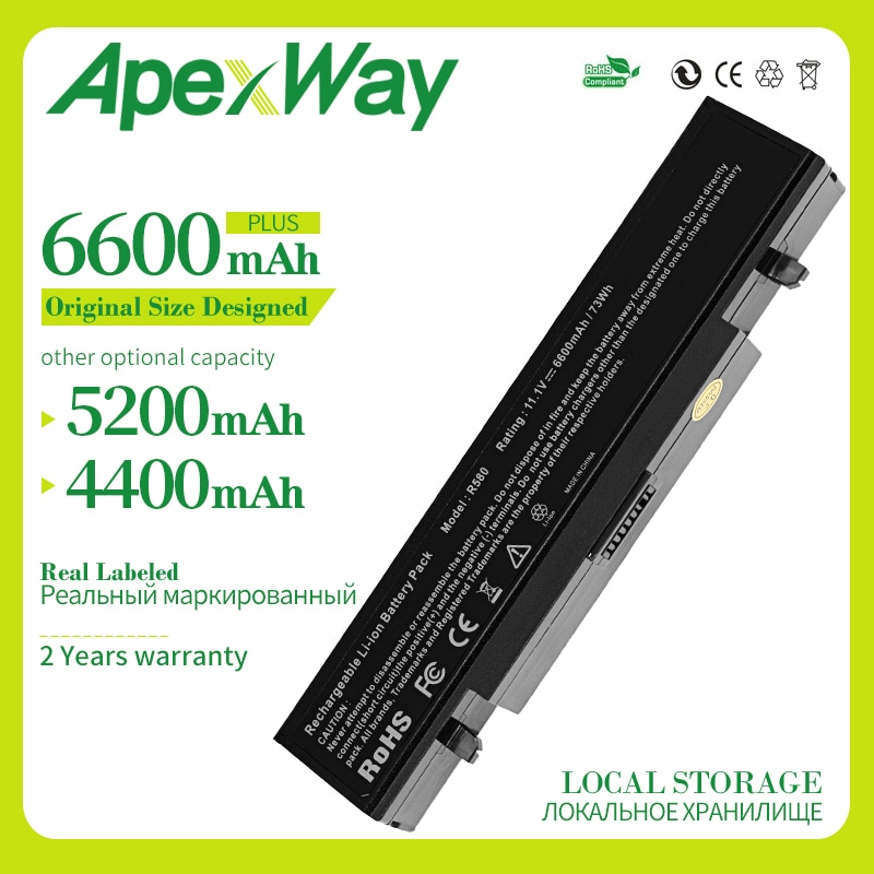 Apexway 6 cells Battery for Samsung R428 R468 E257 E352 SA20 AA-PB9NC6B  AA PB9NS6B NP350E5C NP300V5A NP350V5C NP300E5C NP350E7C
