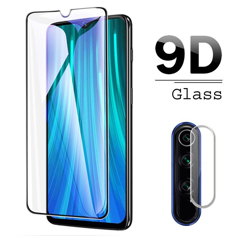 Para Xiaomi Redmi Note 8 T Protector de pantalla frontal + 2 uds Cámara Len película de vidrio templado para Redmi Note 8 Pro pantalla y vidrio de la cámara