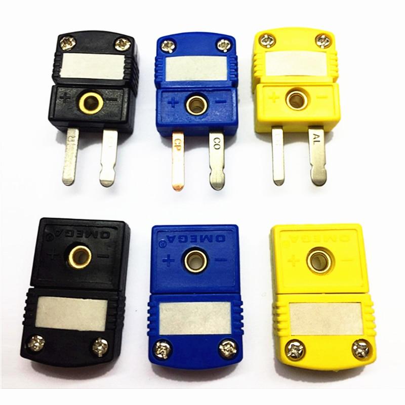 K/T/J type thermocouple miniature socket plug connector thermocouple plugs and sockets sensor US type недорого