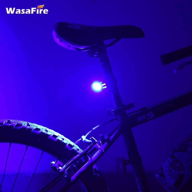 Wasafire impermeable Comet USB recargable cabeza de bicicleta luz de alto brillo 4 colores LED luz bicicleta
