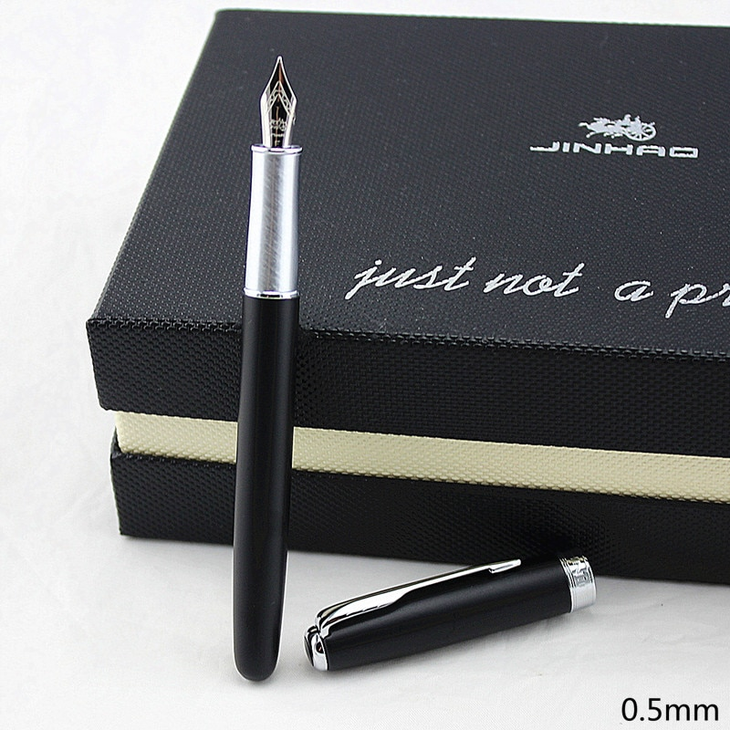 Pluma estilográfica de 0,5mm, punta ancha X75 JINHAO, lujo, negocios, oficina, Negro, Rosa, 5 colores para COHICE JINHAO 75