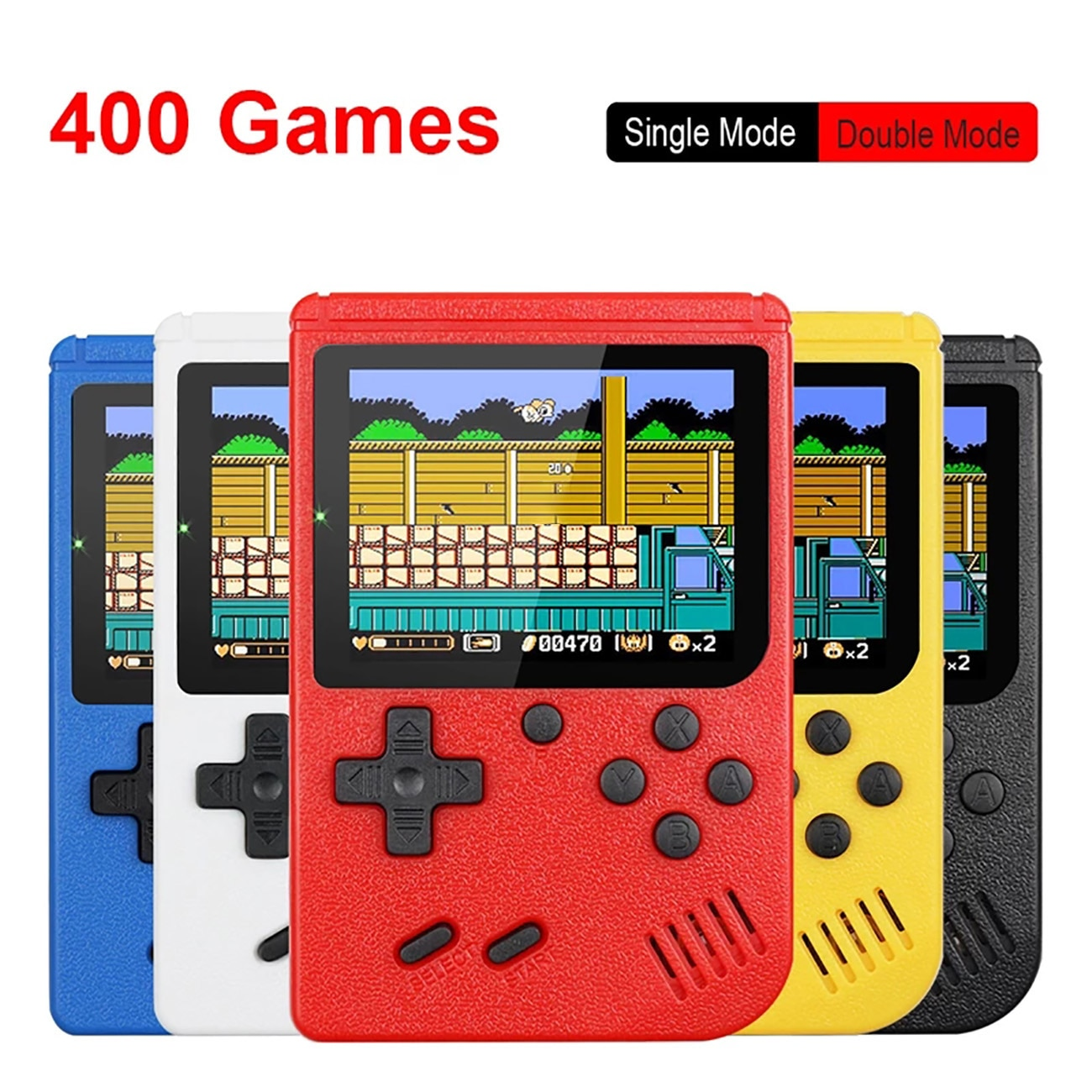 Retro Portable Mini Handheld Video Game Console 8-Bit 3.0 Inch Color LCD Kids Color Game Player Built-in game console for TV