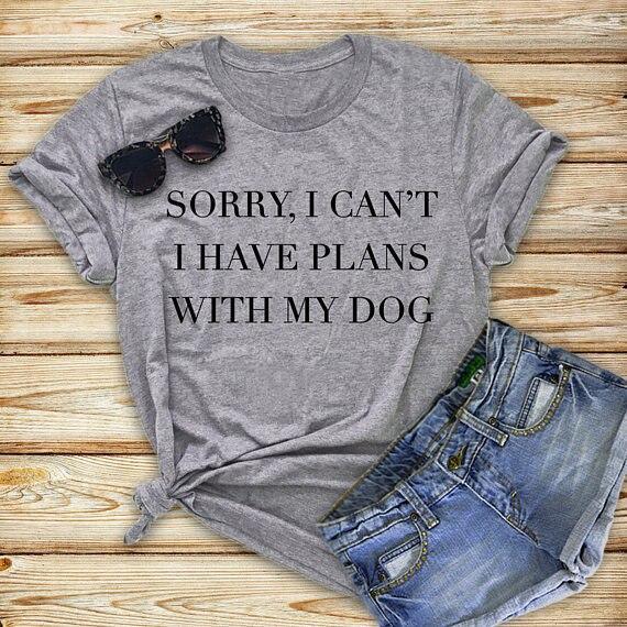 Camiseta do cão do amante do cão do presente de aniversário t roupas na moda