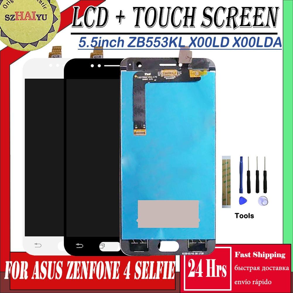 Display LCD Para Asus Zenfone SZHAIYU 4 Selfie ZB553KL X00LD X00LDA Tela de Toque Digitador Assembléia