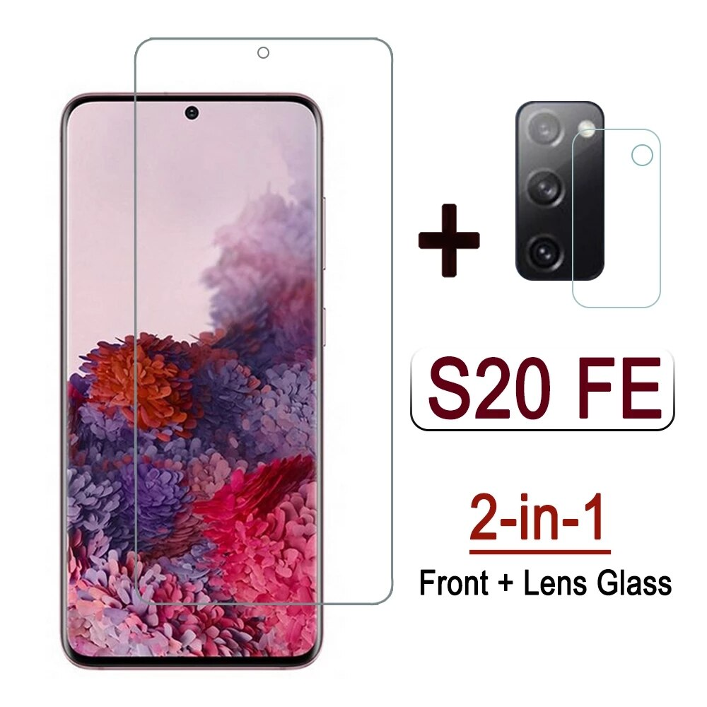 2 in 1 Glass For Samsung S20 FE 5G 2020 Tempered Glass Camera Lens Protective Film For Samsung S20 F
