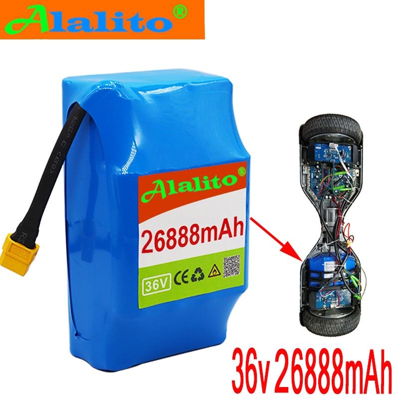Batería recargable de iones de litio Superior de 36V 26888mAh 26.88AH batería de iones de litio para monociclo de hoverboard eléctrico de autosucción