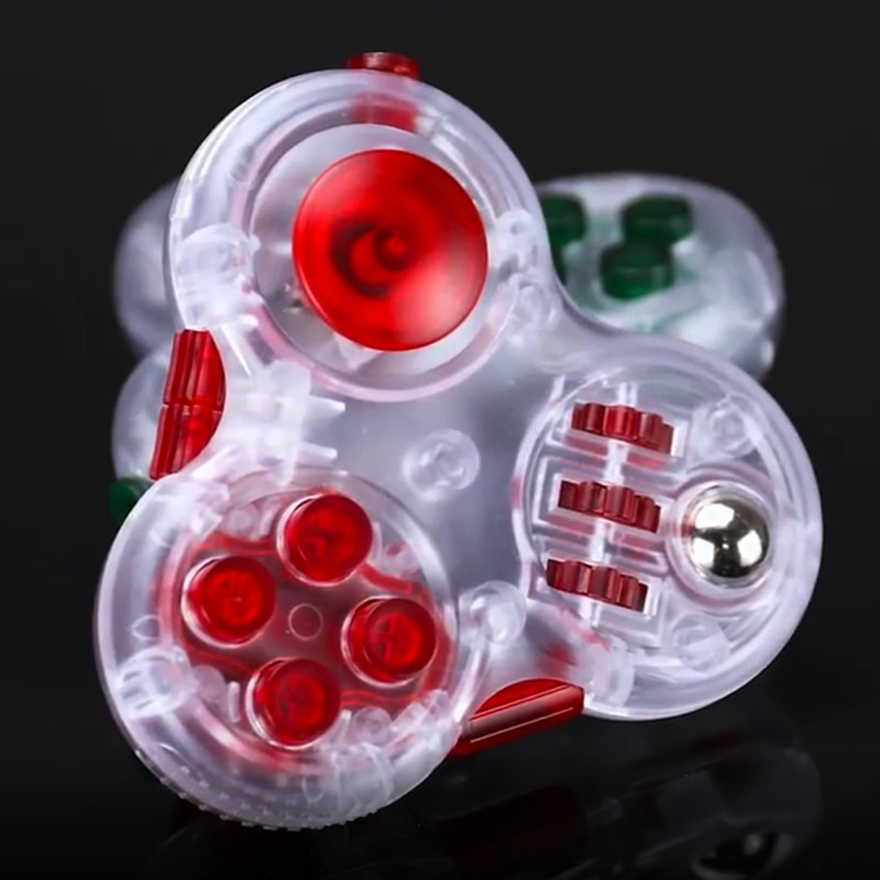 1PC Raytheon Mushroom Anti-stress Rainbow Metal Finger Spin Bearing Adult Toys For Autism and ADHD Anxiety Children Outdoor Gift enlarge