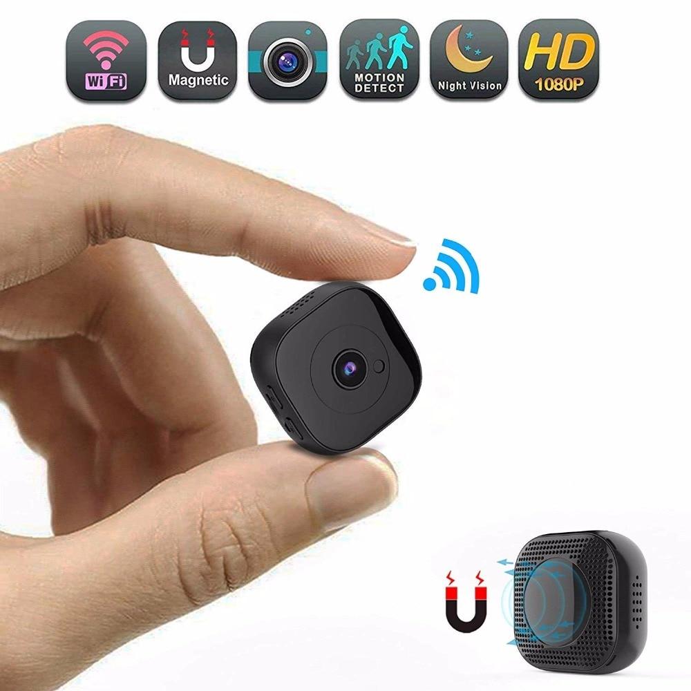 Espia مايكرو كاميرات HD 1080P صغيرة واي فاي كاميرا صغيرة كاميرا مراقبة أي بي الأشعة تحت الحمراء ليلة الإصدار DVR البعيد محس حركة مسجل فيديو الصوت