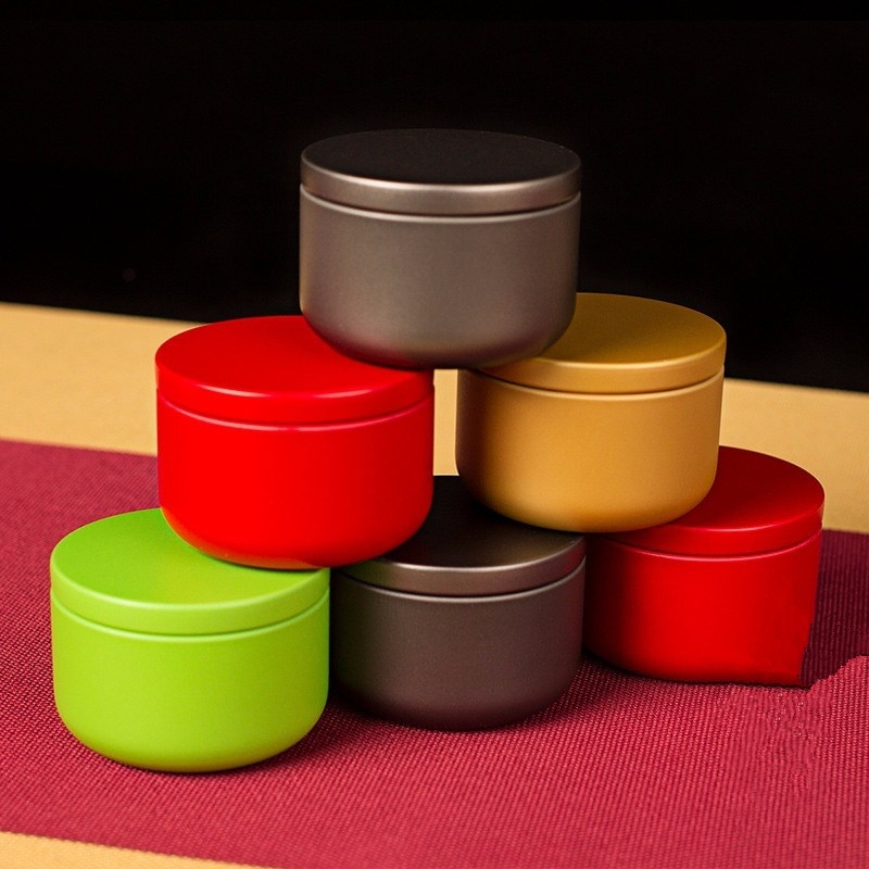 Mini 10g portátil pequeña burbuja puede sellar Metal té lata creativa dulces flor té caja de almacenamiento