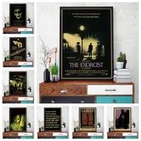 Affiche en toile imprimee de film dhorreur et de frisson  de style retro  pour la maison  le bar  le cafe  art deco  o235