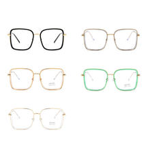 Big Frame Square Anti-blue Light Glasses Frame Oversized Computer Eyewear Frame For Women&Men Square