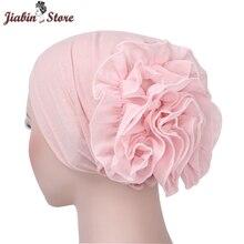 Foulard musulman Pile tas casquette femmes doux confortable Hijab islamique chimiothérapie chapeau Turban casquette