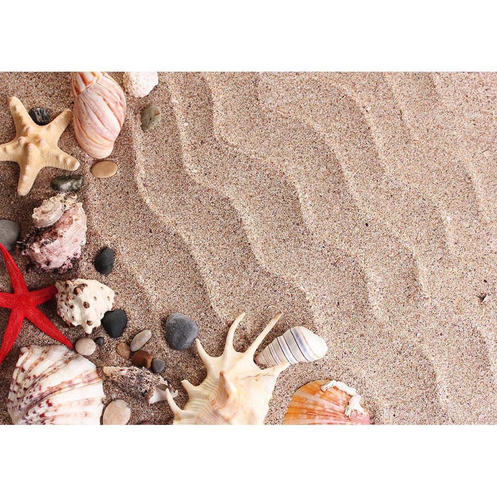 Fondo fotográfico de estrella de mar Concha ondulada arena fondos fotocall personalizado telón de fondo para niños bebé juguete fotografía accesorios sesión fotográfica