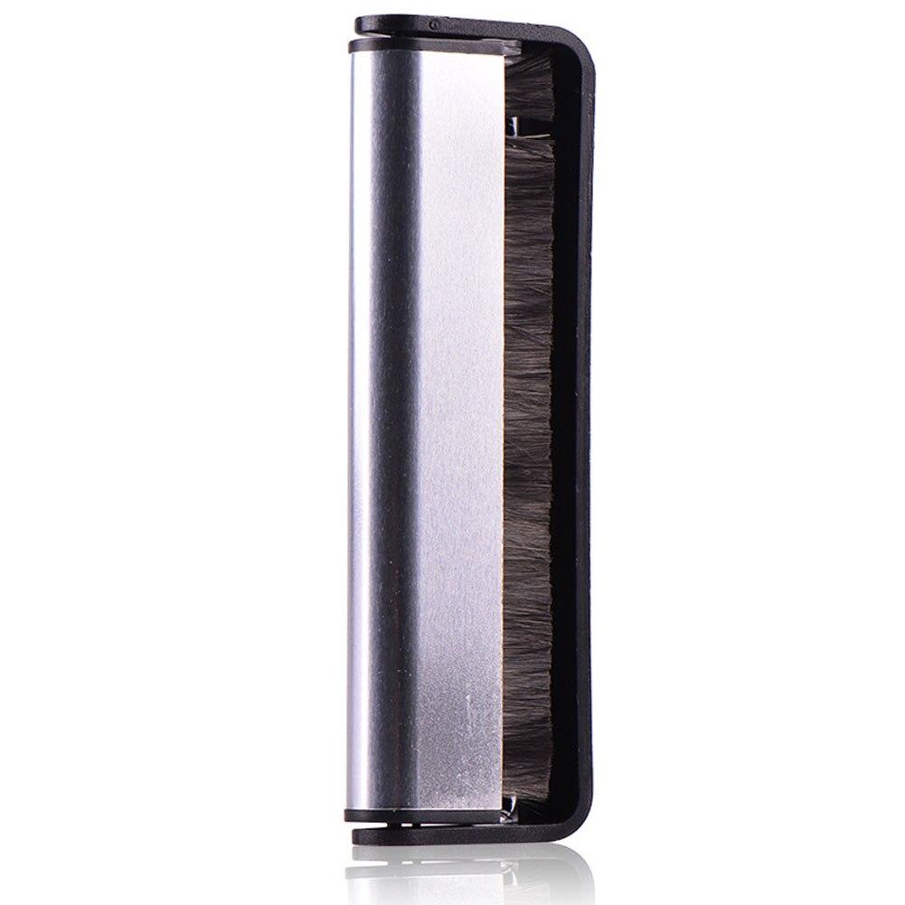 Herramienta de limpieza suave antiestático vinilo fregado negro limpiador con mango giradiscos Pad Audio registro cepillo fibra de carbono fonógrafo