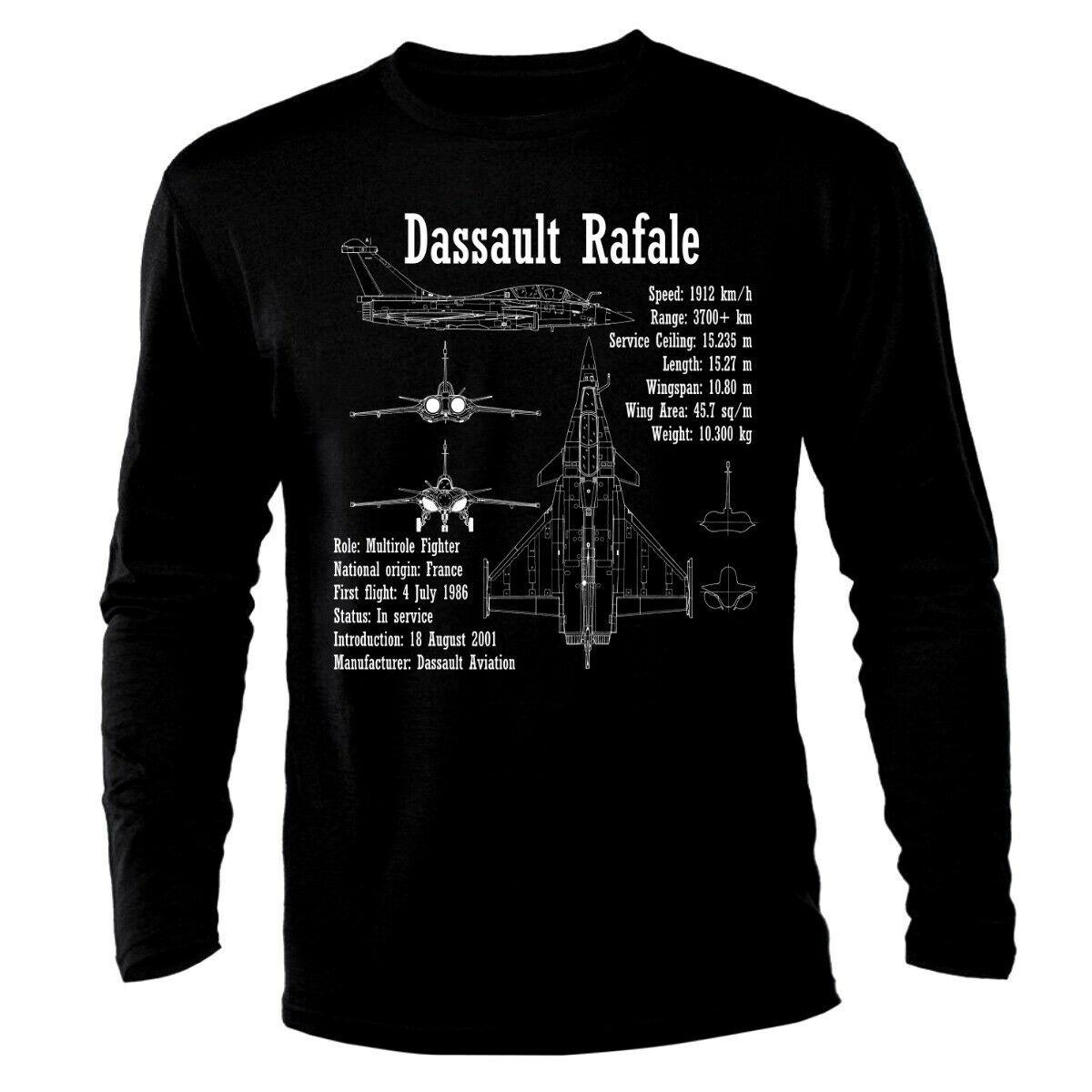 Dassalut Rafale Air Fighter Aircraft Jet Luftkampf Flugzeug Long Sleeve Men T-Shirt