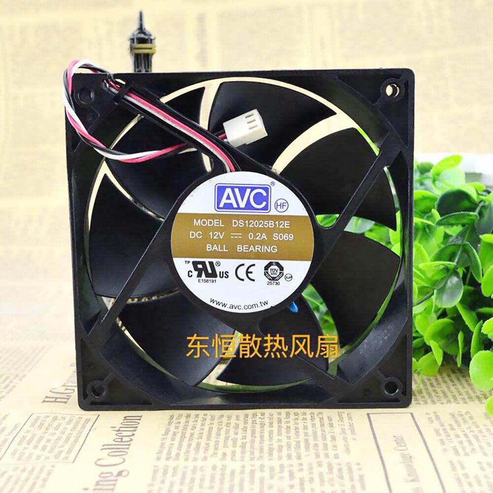 Für AVC DS12025B12E 120*120*25mm chassis power CPU computer lüfter 4P pwm tempreture controller