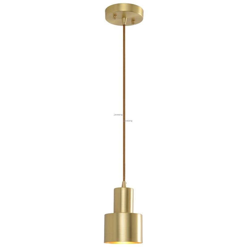 Luces colgantes de estilo moderno Nodric, barra de suspensión luminosa para comedor, decoración artística, lámpara colgante de un solo cabezal, cuerpo de Lámpara de cobre puro