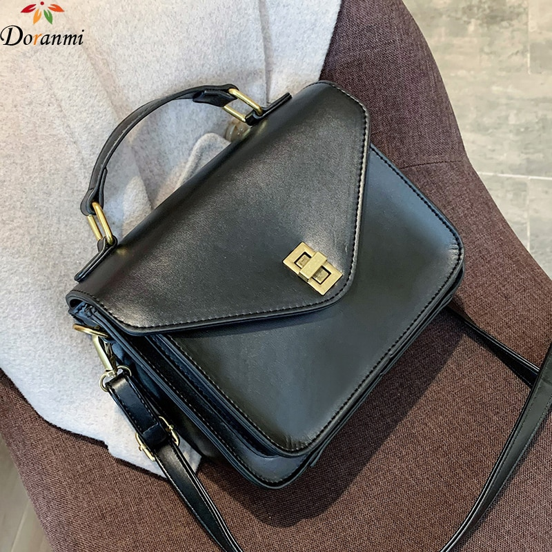 DORANMI Solid Handbag Womens Bags 2020 Classic Luxury Brand Shoulder Bag Female PU Leather Crossbody Messenger Bag Bolsos BG444