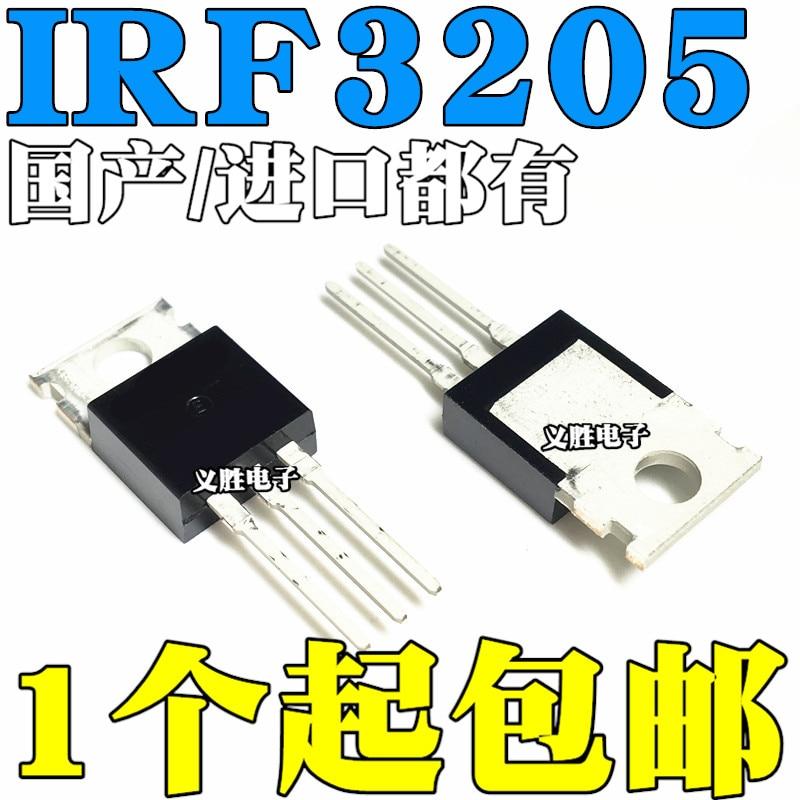 10 teile/los IRF3205 IRF3205PBF MOSFET MOSFT 55V 98A 8mOhm 97,3 nC ZU-220