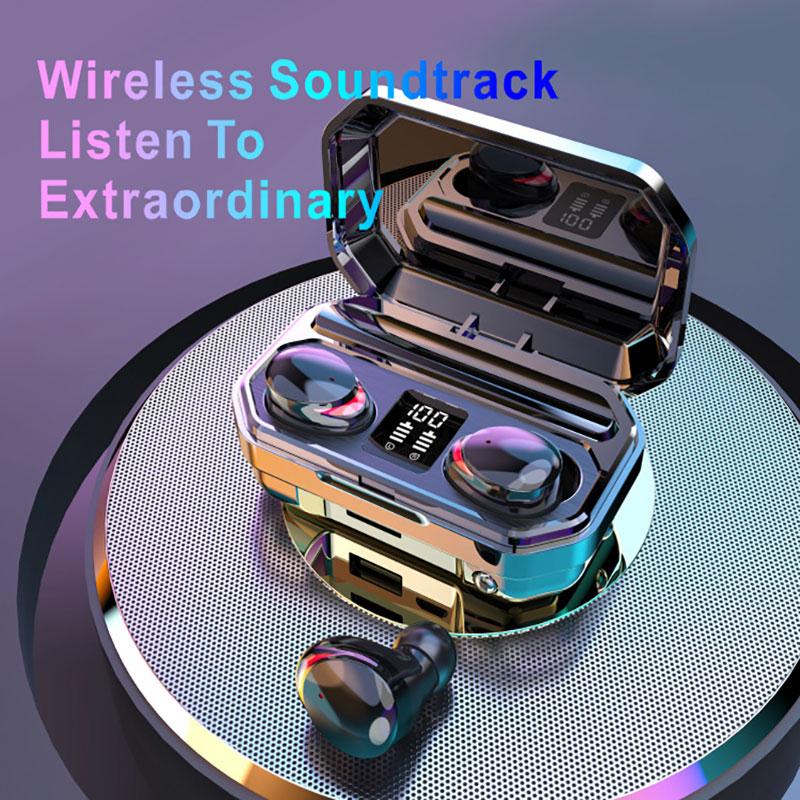 Auriculares inalámbricos M15, cascos con bluetooth, TWS, Mini, táctil Dual, en cascos Gaming