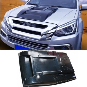 Bug Shields Bonnet Scoop hoods cover exterior car styling moulding fit for ISUZU DMAX D-MAX MUX scoop hoods covers auto parts