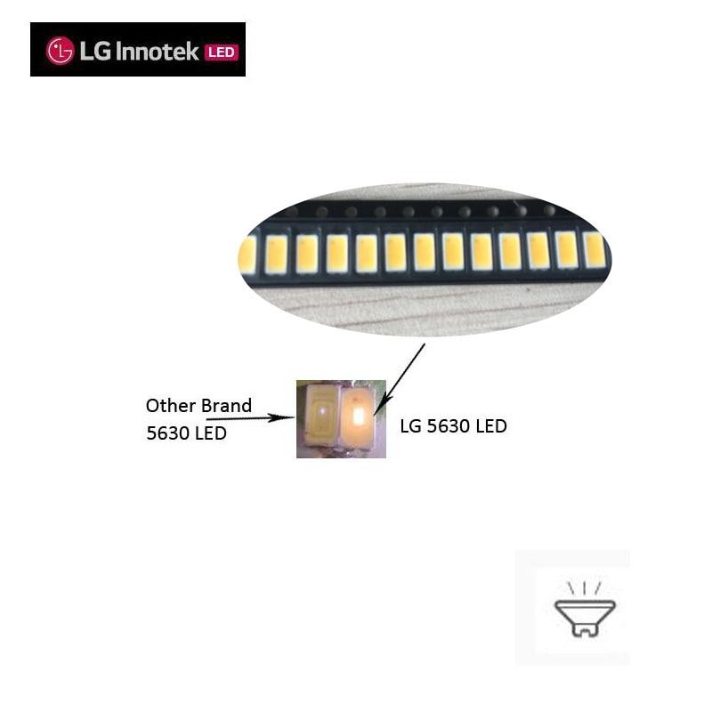 LG 5630 SMD LED 3V 150ma CRI>80 135lm/w 4000K disponible 100 unids/lote