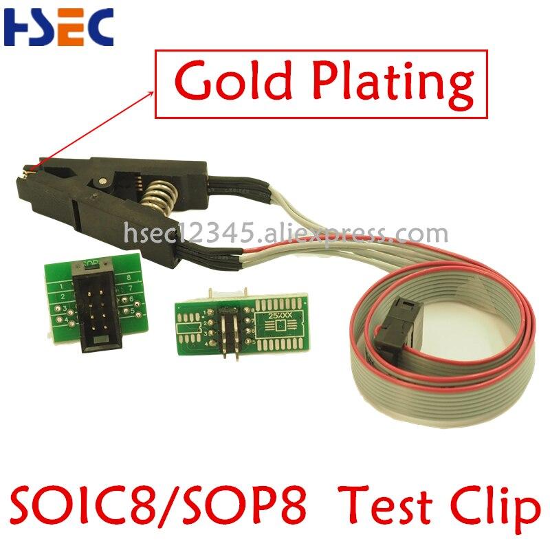 Soic8 sop8 test clip für TL866ii plus minipro TL866CS TL866A EZP2010 EZP2013 EZP2019 CH341A RT809F RT809H bios eeprom Programmierer