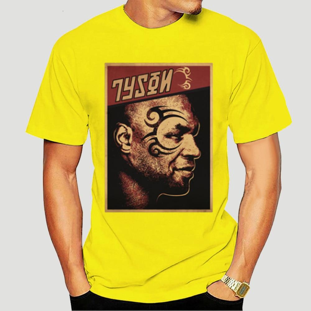 Campeão de boxe tyson sonho masculino t Shirt-0060D
