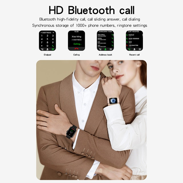 D06 Inch Big Full Touch HD Screen Smart Watch Sport Tracker Support Bluetooth Calling Heart Rate BP ECG With BT Music Playback 8