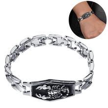 Fashion Men Scorpion Carved Chain Bracelet Motorcycle Punk Charm Wristband Jewelry