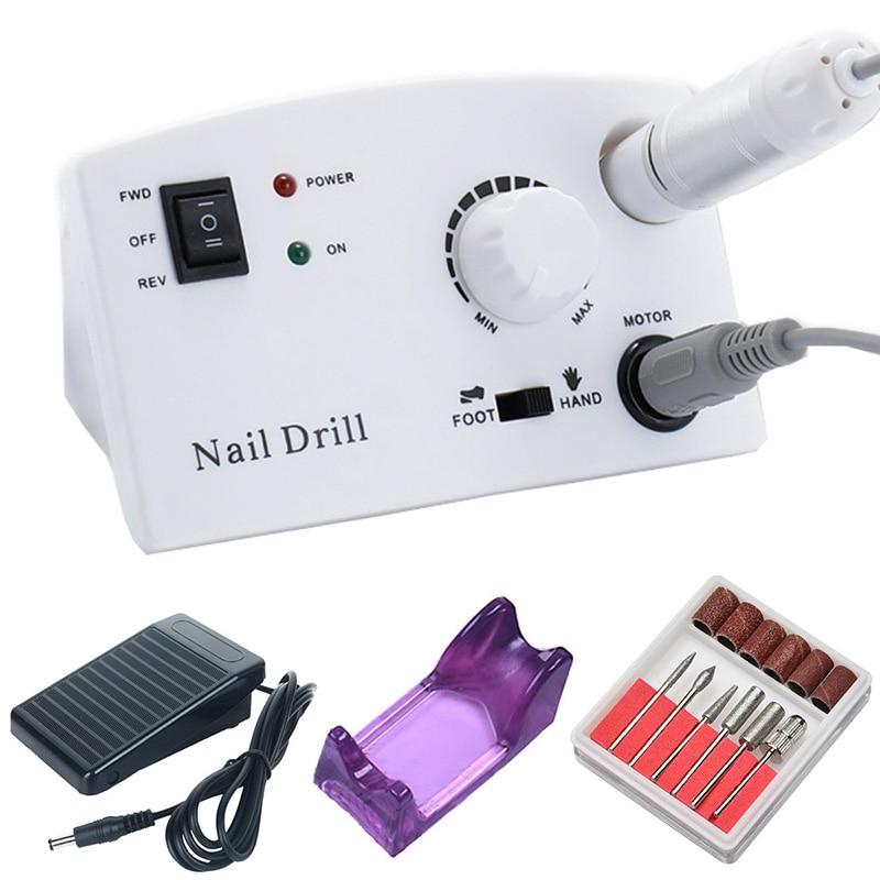35000rpm eletrica maquina de broca do prego manicure broca pedicure drilll fresa
