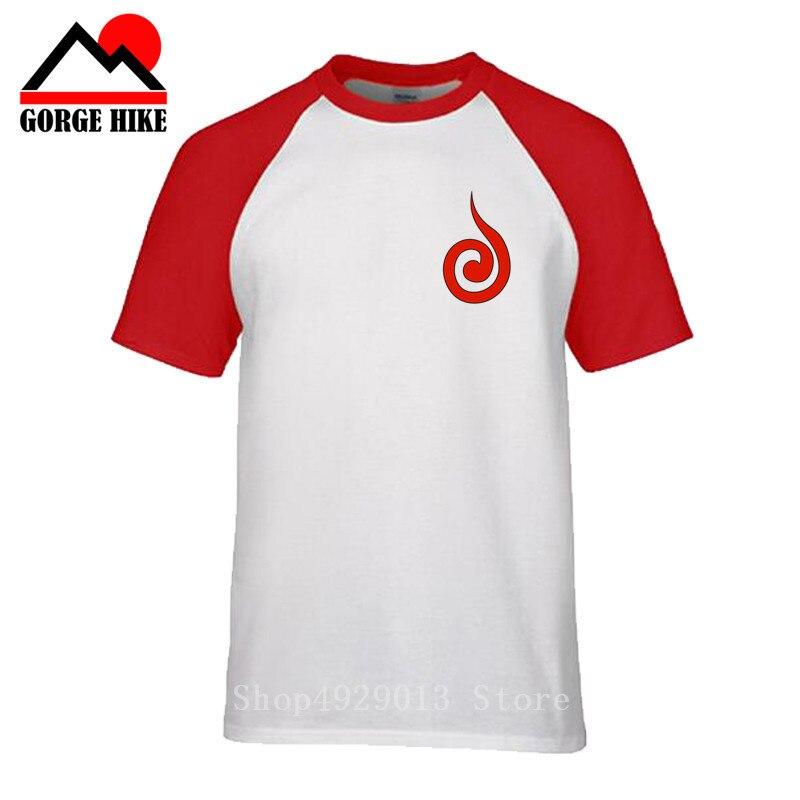 MIJ Irmão Tshirts T-shirt Naruto Uchiha Itachi Camiseta dos homens Surpreendentes Populares Logotipo Vermelho Tops Tees 100% Algodão Vermelho roupas Japão