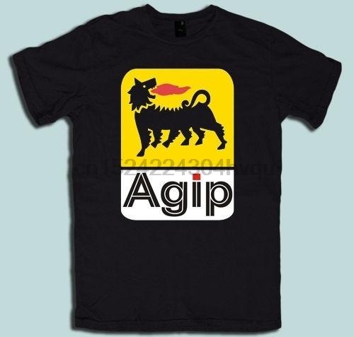 Agip Racing aceite hombres camiseta algodón manga corta impresión camisa mujer camiseta