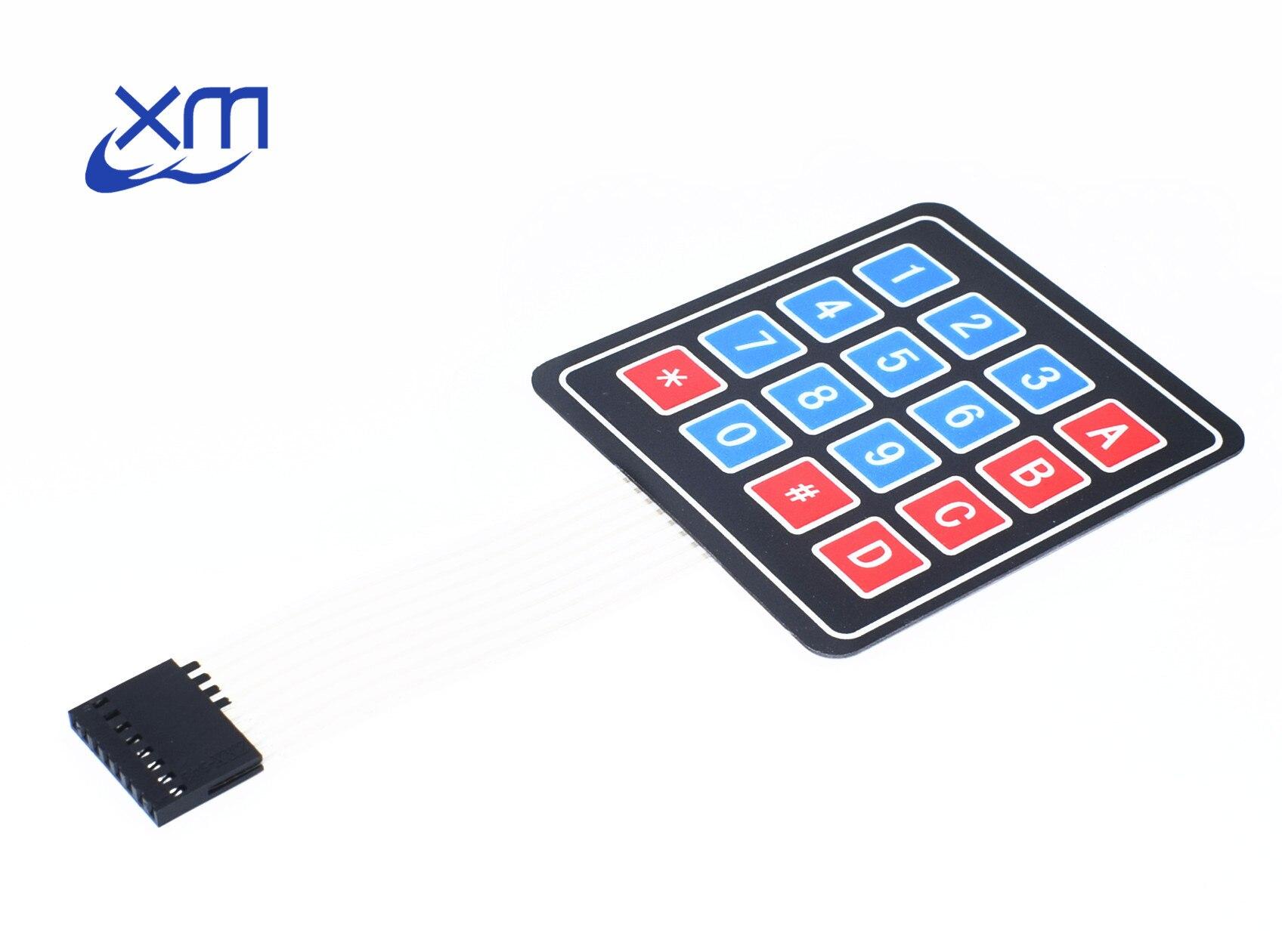 10 TEILE/LOS 4*4 Matrix Array/Matrix Tastatur 16 Key Membran Schalter Tastatur 4X4 Matrix Tastatur H75