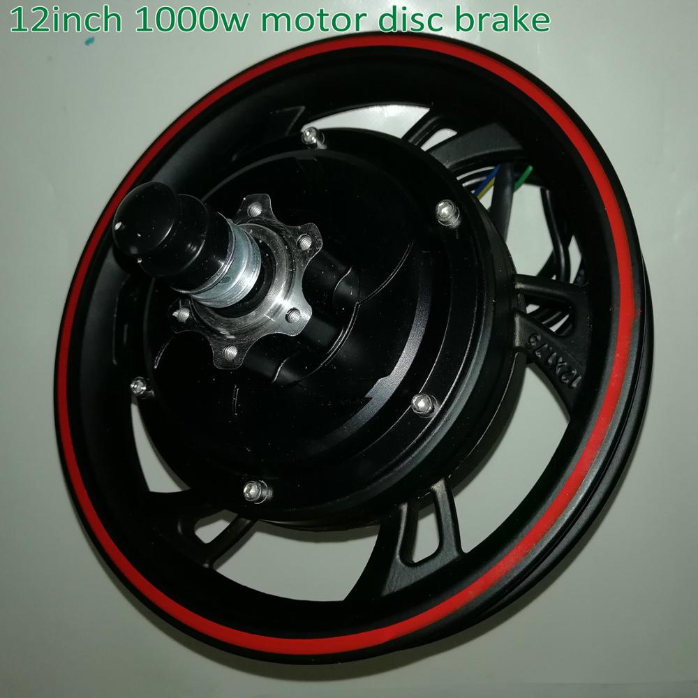 12 pulgadas 36v48v60v72v800w1000w motor sin engranajes con disco de sensor de barra/freno de tambor bicicleta eléctrica scooter MTB triciclo movilidad ATV parte