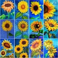 5d diamond painting sunflower cross stitch kit landscape diamont paintings embroidery full drill rhinestones mosaic home decor