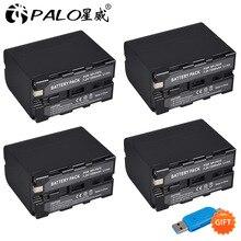 4 stücke 7200mAh NP-F960 NP-F970 NP F960 NP F970 Camcorder akku Für Sony NP-F550 NP-F770 NP-F750 NP F770 NPF960 NPF970 Großhandel