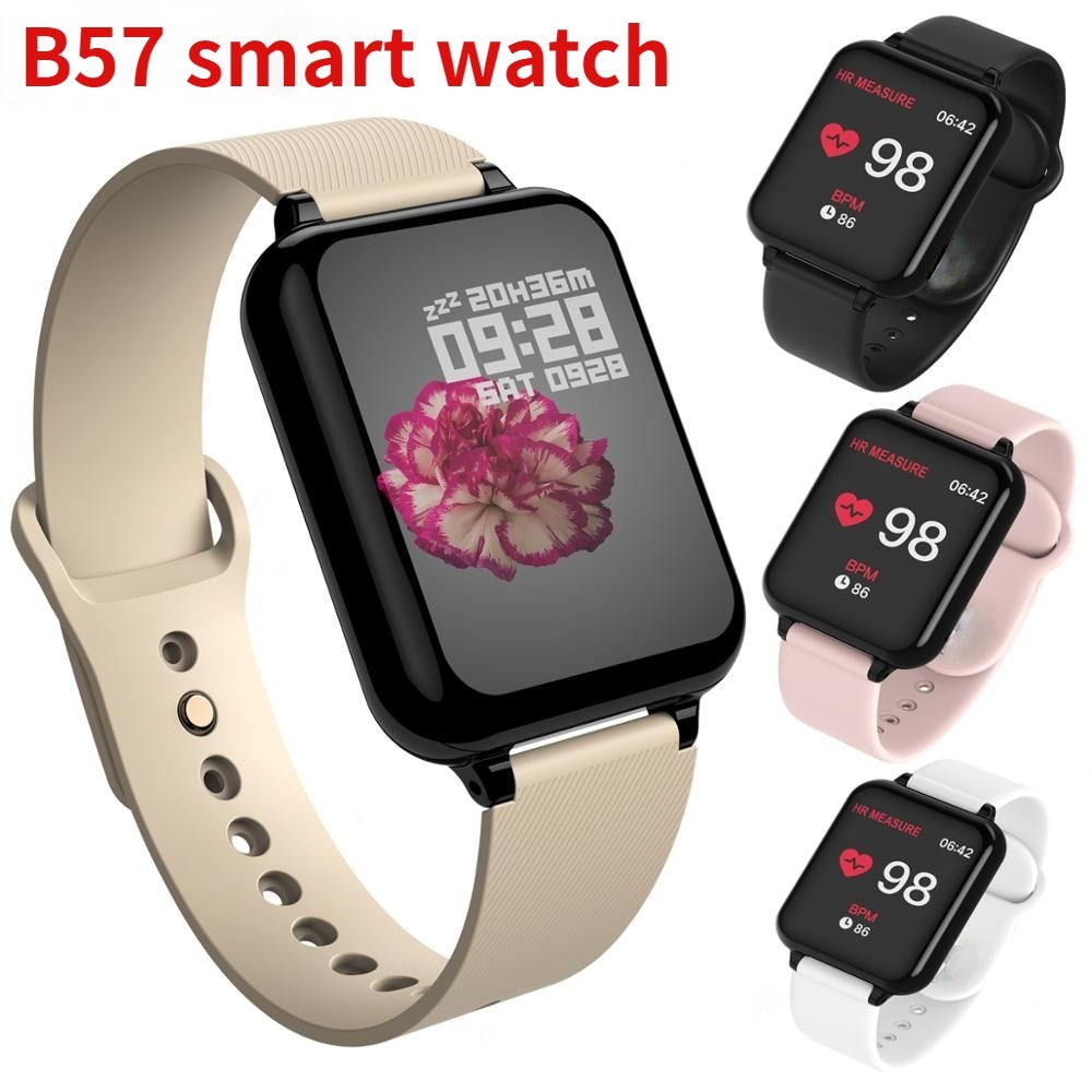 B57 fitness tracker smart watch Waterproof Sport phone Smartwatch Heart Rate Monitor Blood Pressure Functions For IOS Android b57 bluetooth smart watch waterproof smart wriatband heart rate blood pressure oxygen monitoring b57 smartwatch smart bracelet