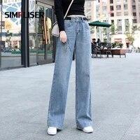 baggy jeans women wide leg denim blue jeans trousers plus size 32 female loose denims for women 2020 ladies elegant high waist