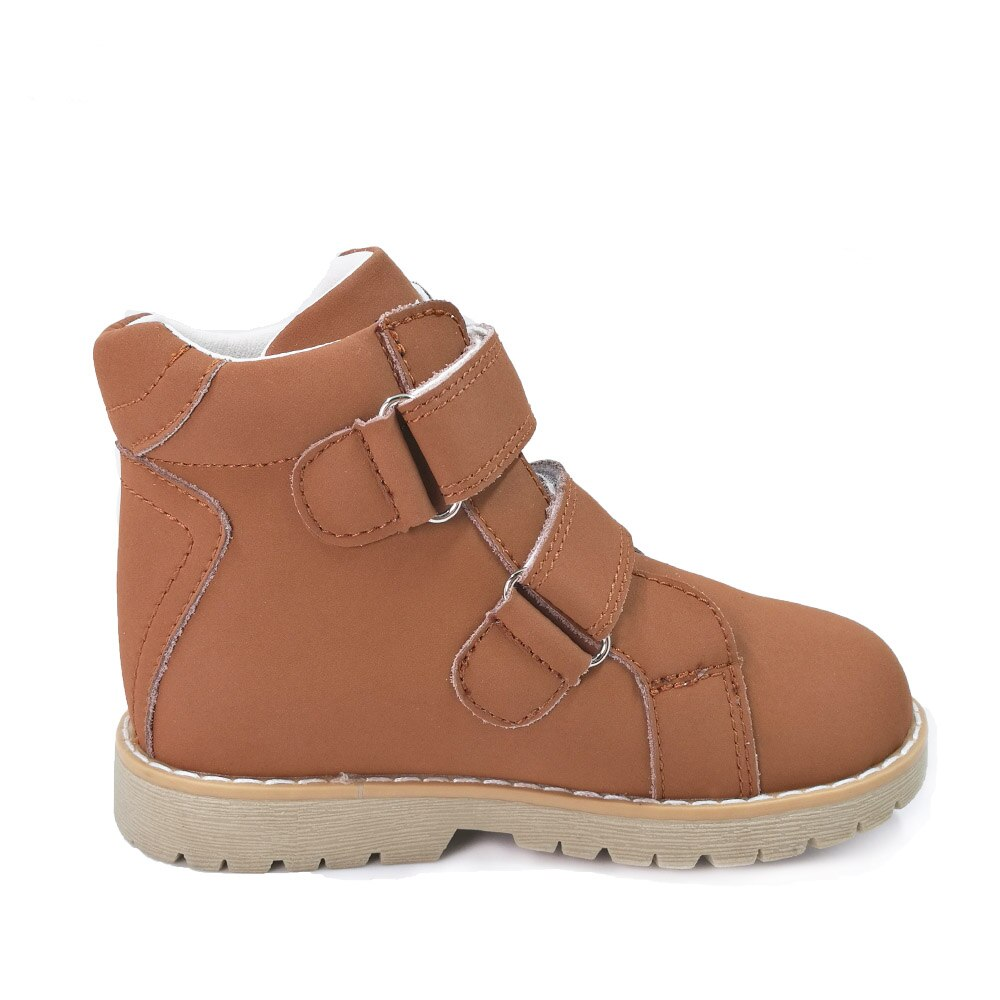 Ortoluckland Children Casual Shoes Leather Orthopedic Footwear For Kids Boys Demi Season Basketball Short Ankle Rubber Boots enlarge