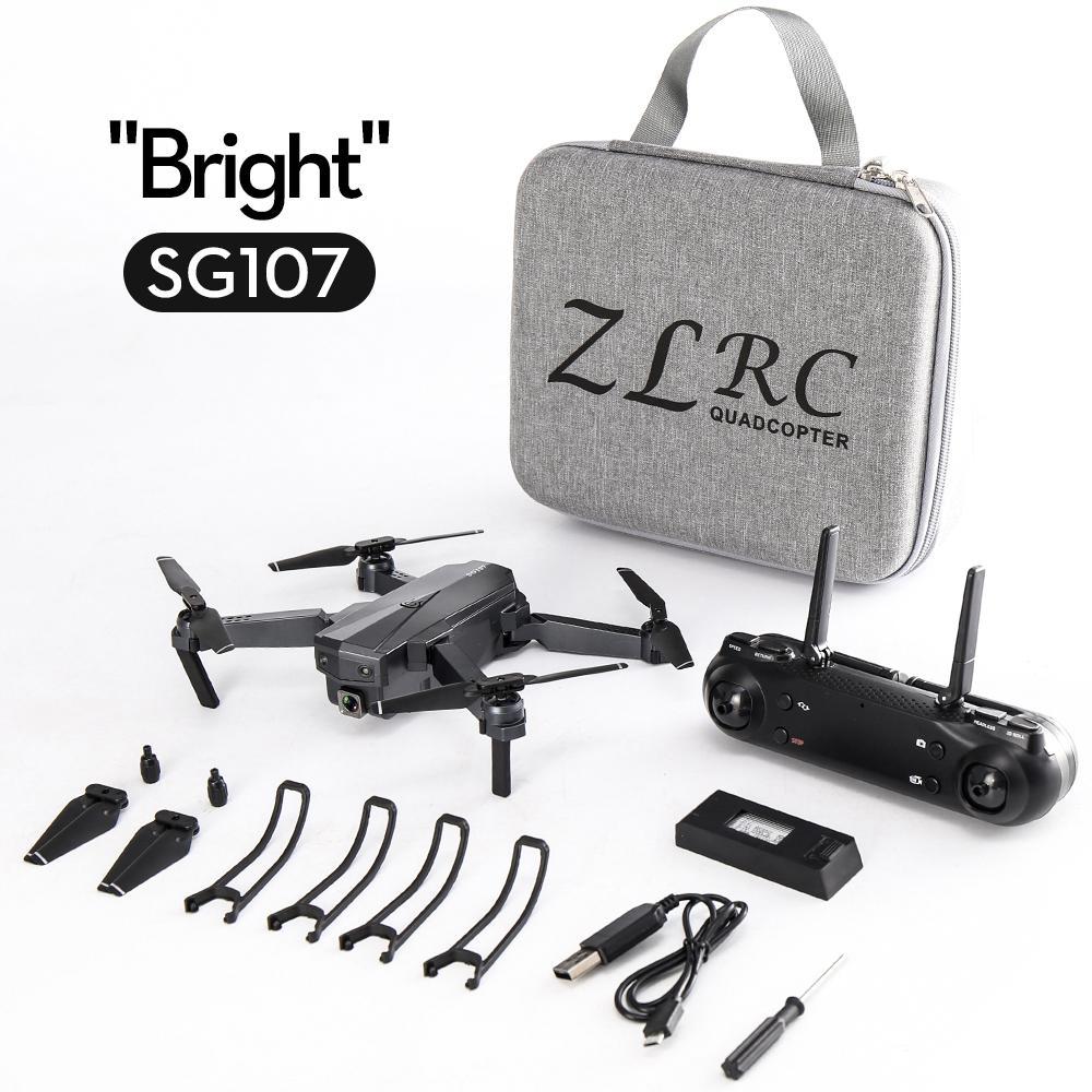 Dron plegable 4K HD RCtown Sg107, Control remoto de flujo óptico aéreo, cuadricóptero volando a través de Mini Drone # X0708