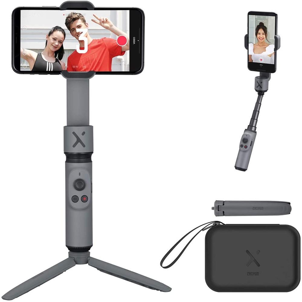 Zhiyun-مثبت Gimbal Smooth X لهاتف iPhone ، لهاتف iPhone 11 Pro Xs Max Xr X 8 Plus 7 6 SE ، Android Samsung galaxy axys10 ، قابل للطي