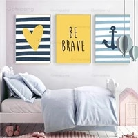 Peinture sur toile avec coeur doux  decor de pepiniere  affiche de Style minimaliste  images murales dart  pour chambre denfants  decoration de la maison