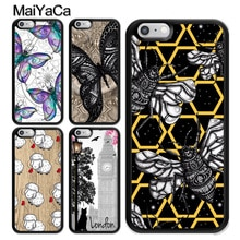 Papillon Mandala mouton étui à fleurs pour iPhone 12 Mini 11 Pro MAX X XR XS MAX SE 2020 6S 7 8 Plus 5s couverture