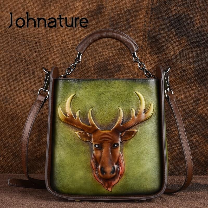 حقائب يد نسائية من الجلد الطبيعي ، حقيبة كتف ، نقش ريترو ، جلد أصلي ، مطبوعات حيوانات ، صناعة يدوية ، مجموعة جديدة 2021