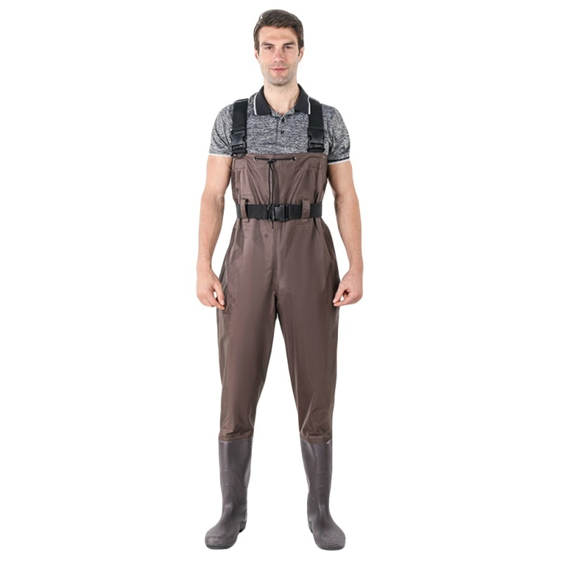 Мужские, женские, мужские водонепроницаемые штаны для рыбалки, ботинки для рыбалки на груди, резиновые сапоги, костюм с камуфляжными штанам...