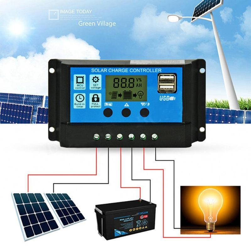 AliExpress - 30A Solar Charge Controller HD LCD Display Auto Work Solar Charge Controller Dual USB Auto PWM Output Solar Cell Panel Regulator