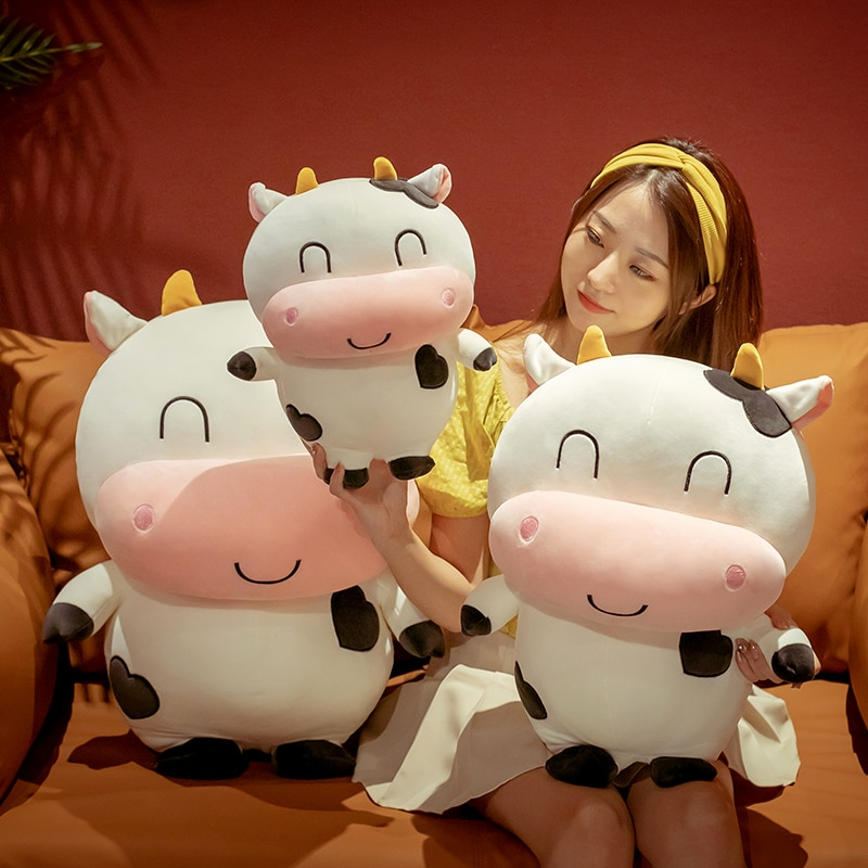 2020 35/50/65cm Lovely Plush Cow Toy Cute Cattle Plush Stuffed Animals Cattle Soft Doll Kids Toys Birthday Gift for Children  - buy with discount