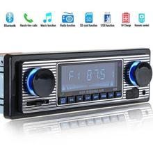 Bluetooth Vintage Auto Radio MP3 Speler Stereo USB AUX Klassieke Auto Stereo Audio Ondersteuning USB/SD/Mmc-kaart reader Afstandsbediening